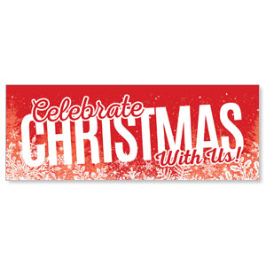 Red and Snow - 3x8 Stock Outdoor Banners
