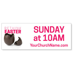 Rethink Easter Chocolate Egg Banners