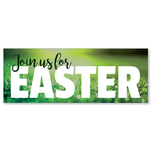 Green Grass Easter Banners