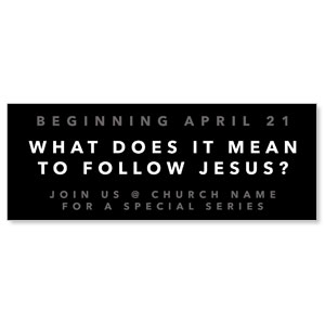 Following Jesus - 3x8 ImpactBanners