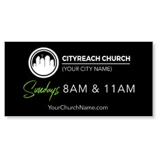 CityReach Black and Green Banner