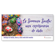 UMC Easter Eggs Spanish Banner