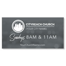 CityReach Blurred Gray Banner
