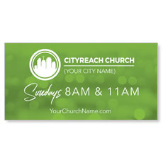 CityReach Blurred Green Banner