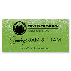 CityReach Green Pebble Fade Banner