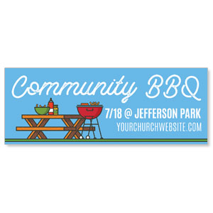 Picnic Bench BBQ Banners