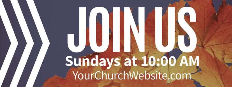 chevron welcome fall banner church banners outreach marketing