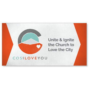 COS I Love You Stock Outdoor Banners