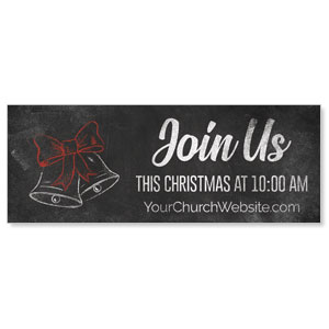 White Chalk Christmas Banners