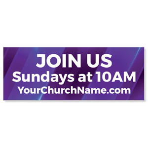 New Church Purple Banners