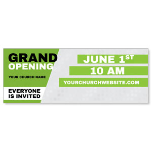 Grand Opening Invite Green Banners