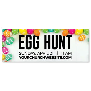 Egg Hunt Bright Eggs Banners