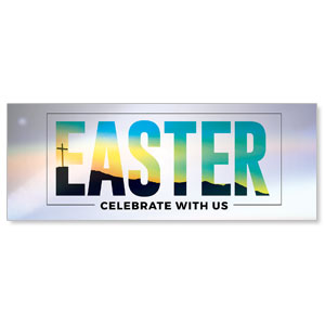 Bold Easter Calvary Hill - 3x8 Stock Outdoor Banners