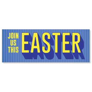 Easter 3D - 3x8 Stock Outdoor Banners