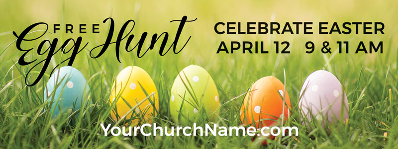 Banners, Easter, Free Easter Egg Hunt, 3' x 8'