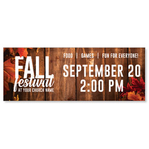 Rustic Fall Festival ImpactBanners