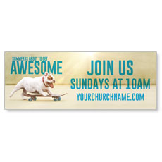 Awesome Summer Dog Banner