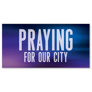 Aurora Lights Praying For Our City Stock Outdoor Banners