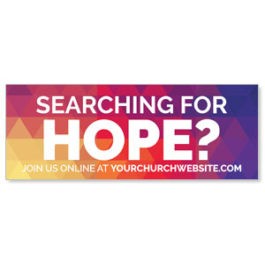 Geometric Bold Searching For Hope ImpactBanners
