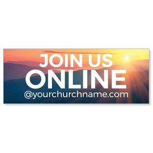 Sunrise Glow Join Us Online ImpactBanners