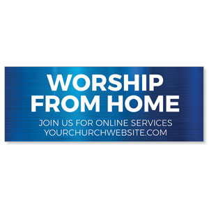 General Blue Worship From Home ImpactBanners