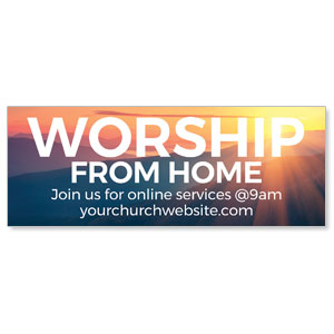 Sunrise Glow Worship From Home ImpactBanners