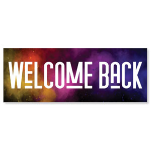 Dark Smoke Welcome Back Stock Outdoor Banners