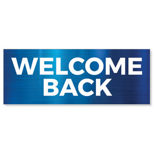General Blue Welcome Back Stock Outdoor Banners