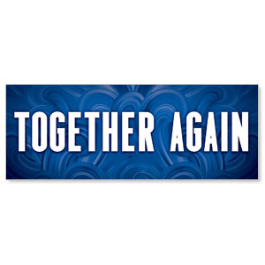 Blue Waves Together Again Stock Outdoor Banners