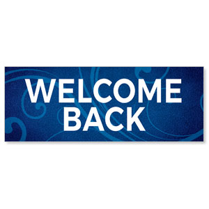 Flourish Welcome Back Stock Outdoor Banners