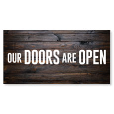 Dark Wood Doors Are Open