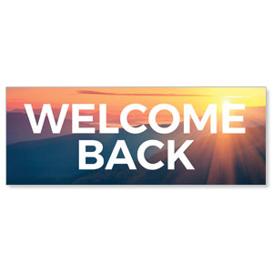 Sunrise Glow Welcome Back Stock Outdoor Banners