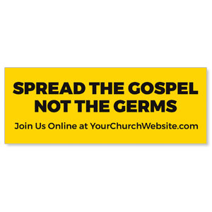 Yellow Spread the Gospel ImpactBanners