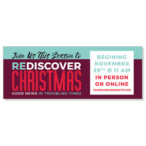 ReDiscover Christmas Advent Contemporary ImpactBanners