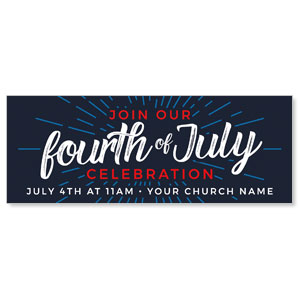 Fourth of July Burst ImpactBanners