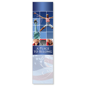 Belong Red White Blue Banners