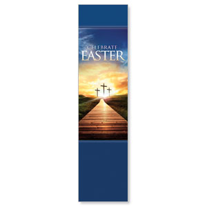 Easter Crosses Path Banners