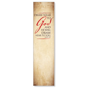 Red Script James 4:8 Banners