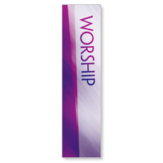 Color Rays Worship Vertical Banner