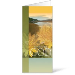 Experience God 11 x 17 Bulletins