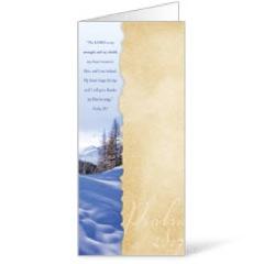 Torn Paper Winter Bulletin