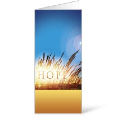Hope for Tomorrow 11 x 17 Bulletins