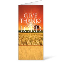 Give Thanks Lord - 11 x 17 Bulletins