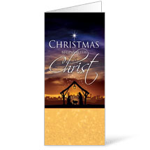 Christmas Begins Christ - 11 x 17 Bulletins