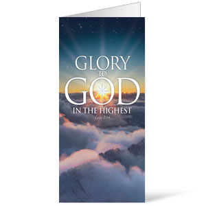 Glory To God  11 x 17 Bulletins