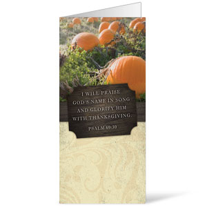 Fresh Air Pumpkin 11 x 17 Bulletins