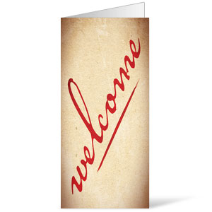 Red Script Welcome Bulletins