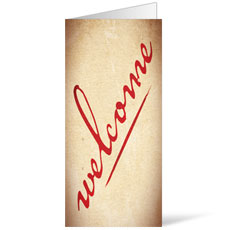Red Script Welcome Bulletin