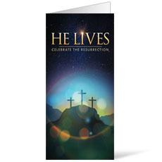 He Lives Crosses Bulletin