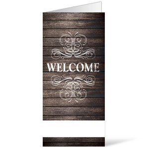 Rustic Charm Welcome 11 x 17 Bulletins
